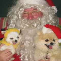 Pablo and Leroy with Santa Claus.